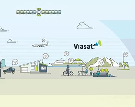 """数字卫星通信公司ViaSat新LOGO融入""""信号""""图形,打造出更具生命力的新形象"""