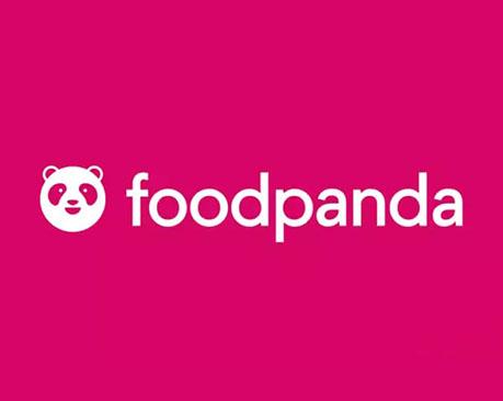 德国网上订送餐平台空腹熊猫新LOGO,粉色熊猫更时尚