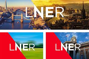 伦敦铁路运营公司LNER推出全新LOGO设计,辅助图形拉高档次,视觉冲击很强