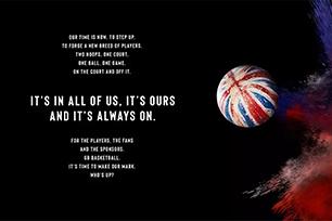 街头文化盛行!英国国家男子篮球队启用全新LOGO设计,重塑品牌形象