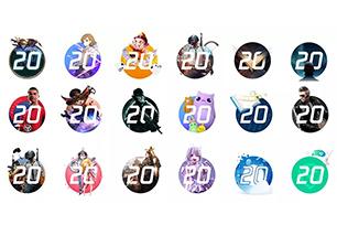 腾讯20岁!109个品牌LOGO延展设计显诚意