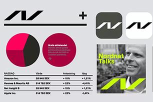 数字银行Nordnet启用全新LOGO设计,全新视觉系统几何形象贯穿始终!