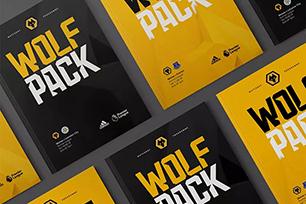英国狼队全新LOGO设计是一头3D狼,SomeOne全力打造拥有竞争精神的新形象
