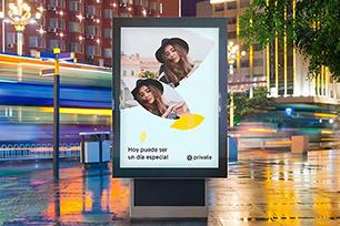 境外电商Privalia升级品牌LOGO,新LOGO设计硬朗、严谨,使符号和文字和谐搭配