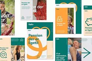 """丹麦人寿保险公司Velliv发布品牌形象设计,全新LOGO设计自由""""卷曲""""成为最大亮点"""