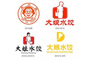 大娘水饺时隔半年又换标志设计,餐饮LOGO设计中大娘不见了!