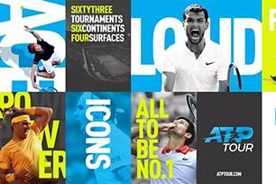 国际职业网球联合会ATP新LOGO设计发布,正负形手法表现全新赛事标志设计