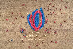 """2023年第十届橄榄球世界杯发布赛事LOGO设计,浪漫的法国将""""爱""""融入标志设计"""